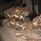In the foundry - pieces of bronze of a Hunting Diana, waiting to be welded together